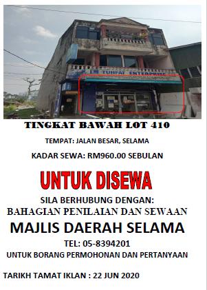 Iklan Sewa 1 Jun 2020